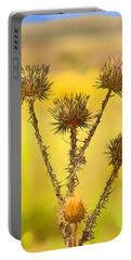Dry Brown Thistle Portable Battery Charger