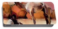 Dsu And Said, Rann Of Kutch, 1996 Oil On Canvas Portable Battery Charger