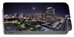 Portable Battery Charger featuring the photograph Dte In Detroit by Nicholas  Grunas