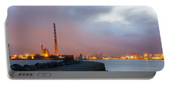 Dublin Port At Night Portable Battery Charger by Semmick Photo