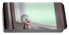 Duckie At The Window Portable Battery Charger by Yo Pedro