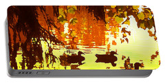 Ducks On Red Lake Portable Battery Charger