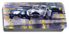 Duel Ac Cobra And Shelby Daytona Coupe 1965 Portable Battery Charger