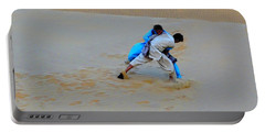Duel In The Desert Thar Rajasthan India Portable Battery Charger