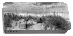 Dune Fences Portable Battery Charger by Debra and Dave Vanderlaan