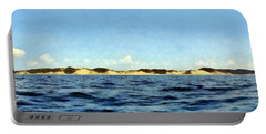 Dunes Panorama Portable Battery Charger by Michelle Calkins