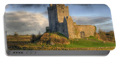 Dunguaire Castle With Dramatic Sky Kinvara Galway Ireland Portable Battery Charger