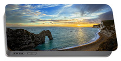 Durdle Door Sunset Portable Battery Charger by Ian Good