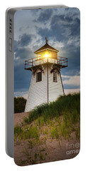Dusk At Covehead Harbour Lighthouse Portable Battery Charger