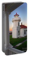 Dusk At Mukilteo Lighhouse Portable Battery Charger