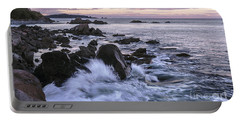 Dusk At West Quoddy Head Light Portable Battery Charger by Marty Saccone