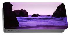 Dusk On The Santa Cruz Coastline Portable Battery Charger