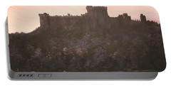 Portable Battery Charger featuring the painting Dusk Over Windsor Castle by Jean Walker