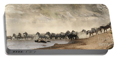 Portable Battery Charger featuring the photograph Dusty Crossing by Liz Leyden