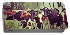 Dutch Cows Portable Battery Charger by Nick  Biemans