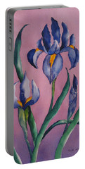 Dutch Irises Portable Battery Charger