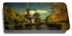 Dutch Windmill Portable Battery Charger