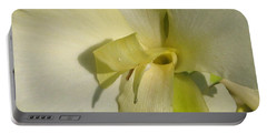 Portable Battery Charger featuring the photograph Dwarf Canna Lily Named Ermine by J McCombie