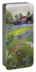 Dwarf Irises And Cottage Portable Battery Charger