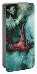 Portable Battery Charger featuring the drawing Dylan With Mood Texture by Paul Davenport