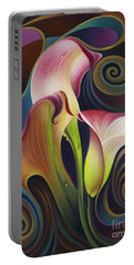 Dynamic Floral 4 Cala Lillies Portable Battery Charger