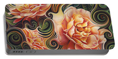 Dynamic Floral V  Roses Portable Battery Charger