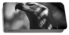 Eagle In Shadows Portable Battery Charger by Robert Frederick