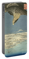 Eagle Over One Hundred Thousand Acre Plain At Susaki Portable Battery Charger by Hiroshige