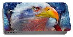 Eagle Red White Blue Portable Battery Charger
