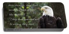 Eagle Scripture Isaiah Portable Battery Charger