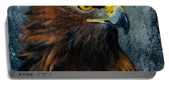 Portable Battery Charger featuring the painting Eagle by Wendy Ray