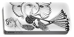 Eagle With A Banner Portable Battery Charger by Melinda Dare Benfield