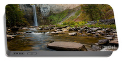 Early Autumn Morning At Taughannock Falls Portable Battery Charger