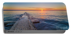 Early Breakwater Sunrise Portable Battery Charger