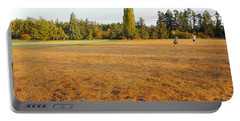 Early Fall Morning In The Rough On The Golf Course Portable Battery Charger