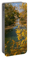 Early Fall On The Navasota Portable Battery Charger by Robert Frederick