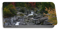 Portable Battery Charger featuring the photograph Early Fall Waterfall by Denyse Duhaime