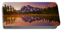 Early Morning At Picture Lake Portable Battery Charger
