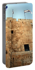 Portable Battery Charger featuring the photograph Early Morning At The Jaffa Gate by Doc Braham