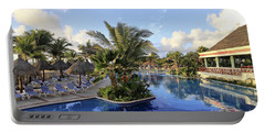 Portable Battery Charger featuring the photograph Early Morning At The Pool by Teresa Zieba