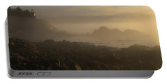 Early Morning Fog At Quoddy Portable Battery Charger by Marty Saccone