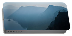 Portable Battery Charger featuring the photograph Early Morning Fog Over Crater Lake by Jeff Goulden