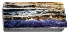 Portable Battery Charger featuring the photograph Early Morning Frothy Waves by Amyn Nasser