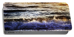 Early Morning Frothy Waves Portable Battery Charger