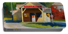 Earlysville Virginia Old Service Station Nostalgia Portable Battery Charger by Catherine Twomey