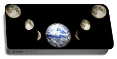 Earth And Phases Of The Moon Portable Battery Charger
