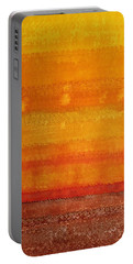 Earth And Sky Original Painting Portable Battery Charger by Sol Luckman