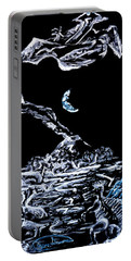 Portable Battery Charger featuring the painting Earth by Ryan Demaree