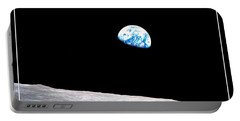 Portable Battery Charger featuring the photograph Earthrise Nasa by Rose Santuci-Sofranko