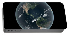 Earths Western Hemisphere With Rise Portable Battery Charger